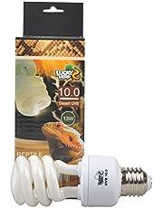 Lucky Herp Reptil kompakt fluorescerande UVA UVB 10,0 glödlampa, 13 W, 26 W tillgänglig (13 watt)