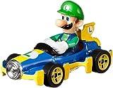 Hot Wheels GBG27 Mario Kart 1:64 Die-Cast Luigi with Mach 8 Vehicle