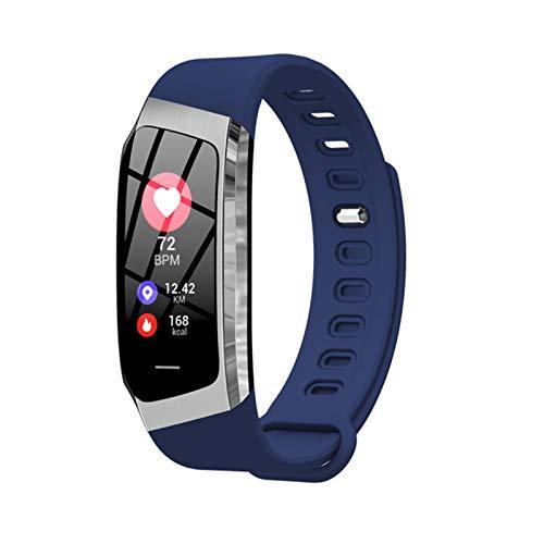 ZGNB E18 - Pulsera inteligente para hombre y mujer, frecuencia cardíaca, presión arterial, actividad física, reloj inteligente, impermeable, para Android iOS, E