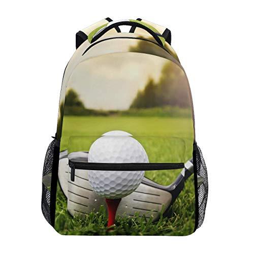 Sport Golf Ball Grass Backpack Travel School College Book Bag Shoulder Bag Camping Hiking Laptop Daypack