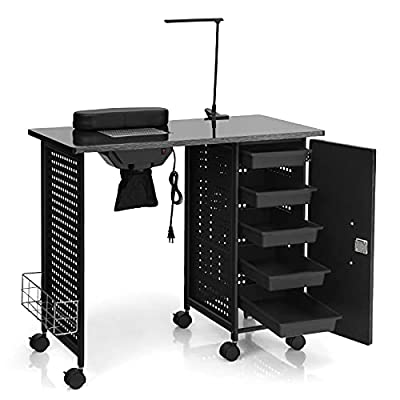 Giantex Manicure Nail Table Station