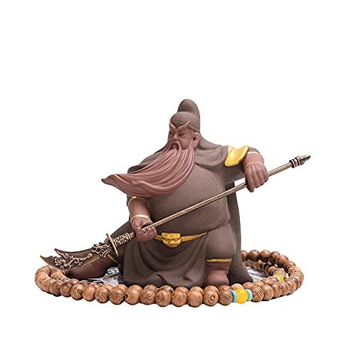 MDROGKUX Estatua del Dios marcial de la Suerte de la Riqueza, Accesorios para automóviles, Interior, Dormitorio, Sala de Estudio, Sala de Estar, Oficina, decoración de Escritorio