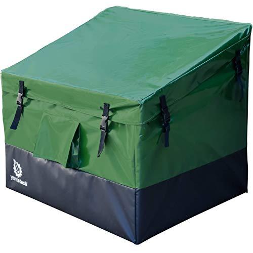 YardStash YSSB02 Outdoor Storage Deck Box, Medium, Green
