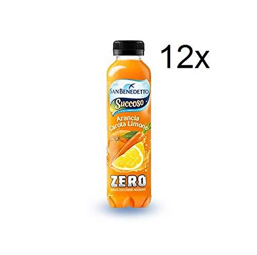 12x San Benedetto Succoso zero PET flasche ohne zucker 40cl ACE Fruchtsaft saft