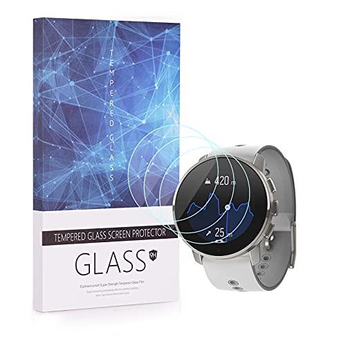 UIQELYS Pack de 3 protectores de pantalla para SUUNTO 9 PEAK Smartwatch cobertura completa 2.5D 9H dureza vidrio templado película protectora resistente a los arañazos