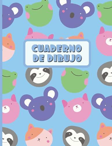 CUADERNO DE DIBUJO: Bloc de 100 paginas en blanco   Libreta infantil para dibujar   Regalo creativo y original para niños   Lindo diseño de animales: cerditos, ranas, ositos y monitos.