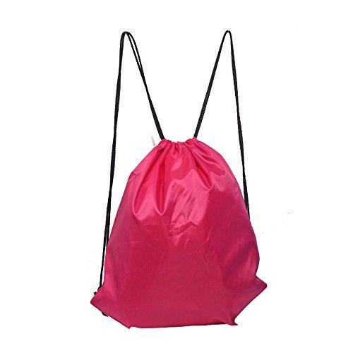 LIHI Bag 10 Pack Ripstop Drawstring Backpack,Party Favors Treat Bags,Magenta