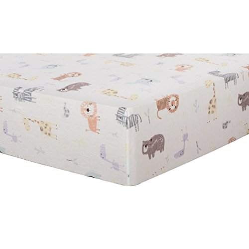Trend Lab Crayon Jungle Deluxe Flannel Fitted Crib Sheet, Multi