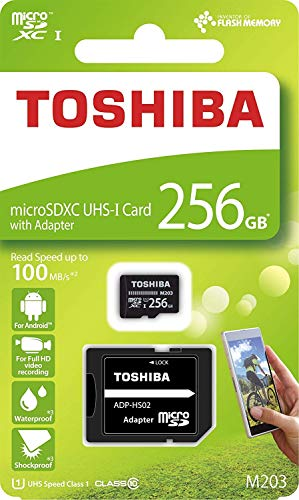 256GB microSDXCカード マイクロSD TOSHIBA 東芝 CLASS10 UHS-I R:100MB/s 海外リテール THN-M203K2560