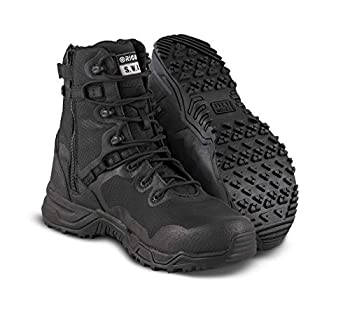 Original SWAT Alpha Fury 8 Side Zip Tactical Boot   High Performance Light Weight Duty Shoes   Airport Friendly