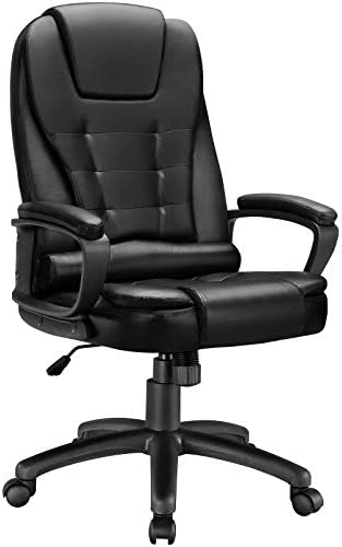 BOSSIN High Back Executive Office Chair Leather Computer Desk Chair with Armrest Swivel Ergonomic product image