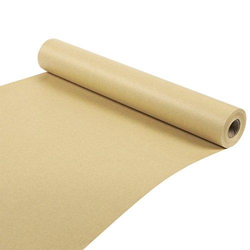 Kraft rollo de papel–para manualidades, regalos, embalaje envío–100pies de largo, marrón, 17,5x 1200cm