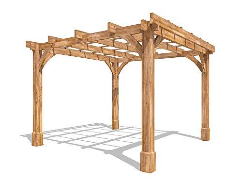 Dunster House Wooden Pergola Garden Canopy Shade Furniture Kit Atlas 3m x 3m