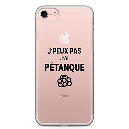 ZOKKO - Cover per iPhone 7/7 Plus, motivo: Jpeux Pas J'Ai pétanque, misura iPhone 7, colore: Nero