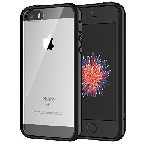 JEDirect iPhone SE 5 5s ケース バンパー 衝撃吸収 傷つけ防止 (ブラック)