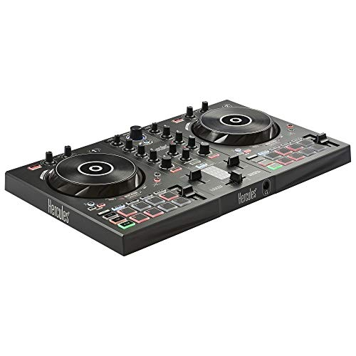 Hercules DJ Control Inpulse 300 | 2 Channel USB Controller, with Beatmatch Guide, DJ Academy and Full DJ Software DJUCED Included