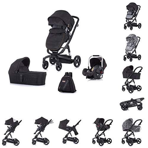 Chipolino Electra Landau trois pièces pour bébé, couleur noire