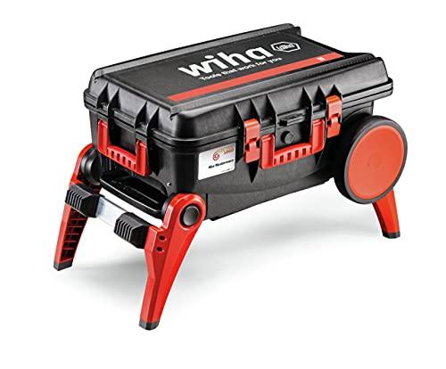 Wiha Werkzeugkoffer Set XXL III electric (44128), 100-tlg. I Trolley mit ausklappbaren Beinen