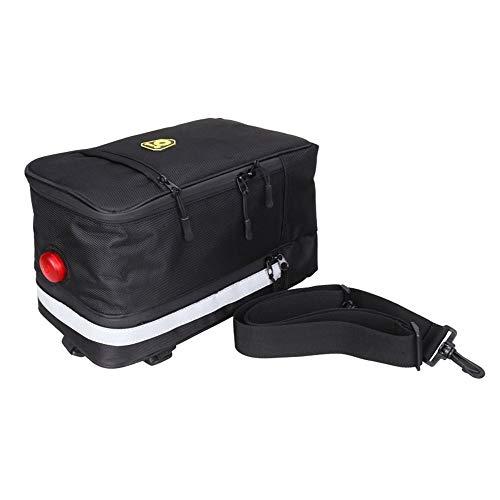 Yaunli Radfahren Rucksack Fahrradträger Tasche Schultergurt Gepäckträger Kofferraum Tasche Werkzeuge Zubehör Fahrradrucksack (Farbe : Black, Size : 29 * 17 * 16cm)