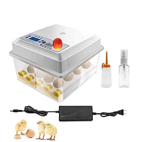 InLoveArts Eierbrutschrank,Automatischer Eier Brutkasten für 16 Eier mit Turner-Temperaturregelungsfunktion, Drehen von Eiern für Hühnereier, Enteneier, Tauben-Eier