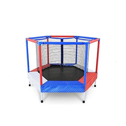 LICHUAN Trampolín con red de seguridad para baloncesto, mini trampolín para niños al aire libre, interior, familiar, patio, escuela, entretenimiento, edad 1-10