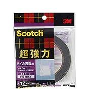 スリーエム スコッチ 超強力両面テープ タイル表面用 12mmX4m SST-12