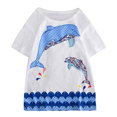 Great Deal! TIANRUN Unisex Children Baby Short Sleeve Cartoon Print Crewneck T-Shirt Tops Tee Home W...