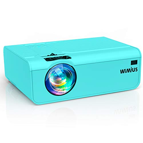 Projector, WiMiUS LED Projector 1080P Indoor and Outdoor Projector Support 200' Display Works with Fire TV Stick PC DVD PS4 Smartphones