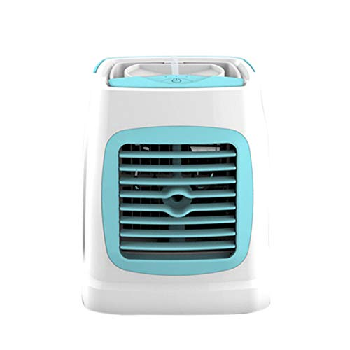 Varadyle Ventilador de RefrigeracióN PortáTil Ventilador de PulverizacióN USB Aire Enfriador de Espacio Personal Ventilador de RefrigeracióN por Aire para Sala de Oficina, Azul