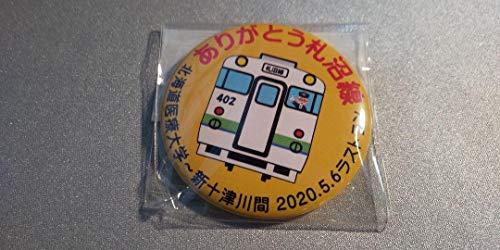 新十津川駅限定販売 缶バッジ ありがとう札沼線 キハ40402ver