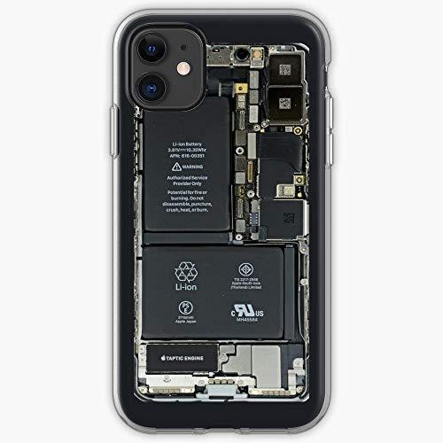 Case Battery PCB Electronic Cool Cute Cubierta de la Caja del teléfono de diseño único Snap/Glass para iPhone, Samsung, Huawei - TPU a Prueba de Golpes Interior Protector