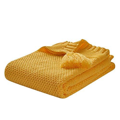 Manta de sofá Cama cálida Gruesa de Punto Grande de Tiro Grueso para decoración del hogar