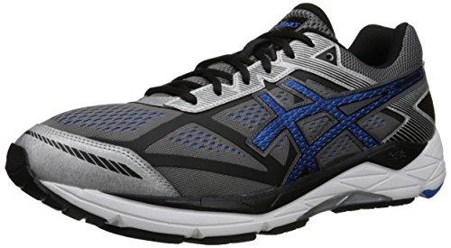 ASICS Men's Gel Foundation 12 Running Shoe, Carbon/Electric Blue/Black, 7 M US