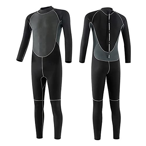 Traje de Neopreno Hombres de 3 mm con Cremallera en la Espalda Traje de baño de una Pieza para esnórquel Largo, Adecuado para esnórquel, Surf, Kayak (Large)