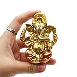 Hindu Ganesh for Car Dashboard - Indian Mini Ganesha Statue Decor India Home Office Temple Mandir Pooja Items Diwali Gifts Decor Murti Ganpati Idol Yoga Zen Meditation Room Altar Shrine Kit