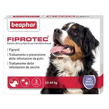 3 fialette antiparassitario cane 40-60KG FIPROTEC BEAPHAR