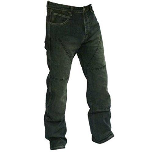 Juicy Trendz® heren motorfiets pantaloon jeans biker versterkt met beschermende ribben - - W34-L32
