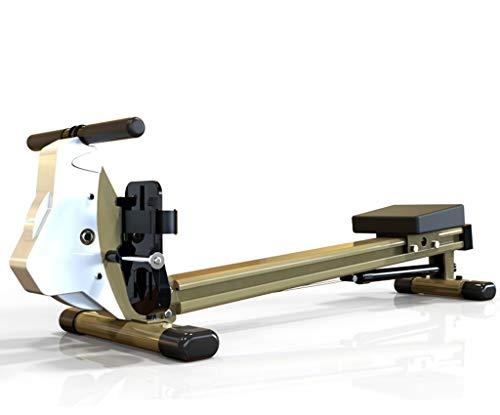 CKR Vogatori Idraulico Resistenza Postura Seduta Muto Paddle, Vogatore Indoor, Ingombro Ridotto