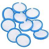 Scicalife 10 Unidades de Filtros de Jeringa de Plástico Filtros de Laboratorio Membrana Hidrofílica 25Mm de Diámetro 0. 45Um Tamaño de Poro No Estéril Filtración Azul