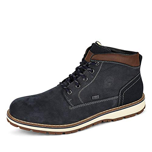 Rieker Herren F8410 Mode-Stiefel, blau, 47 EU