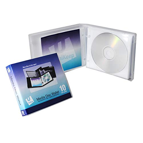 UniKeep Disc 10 CD/DVD Wallet with 10 Pages - Pack of 3
