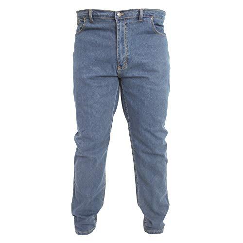 Duke - Pantalones elásticos Modelo Rockford Carlos para Hombre (137 cm Largo) (Efecto Lavado)