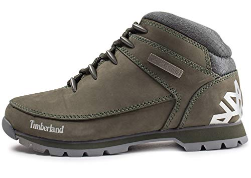 Mens Timberland Euro Sprint Hiker Leather Winter Walking Ankle Boots - Grape Leaf - 11