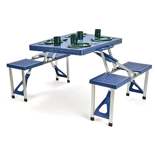 Trademark Innovations Portable Folding Picnic Table with 4 Seats