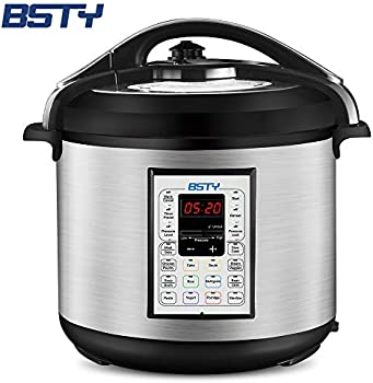BSTY 8-Qt Electric Pressure Cooker with 13-in-1 Cooking Functions
