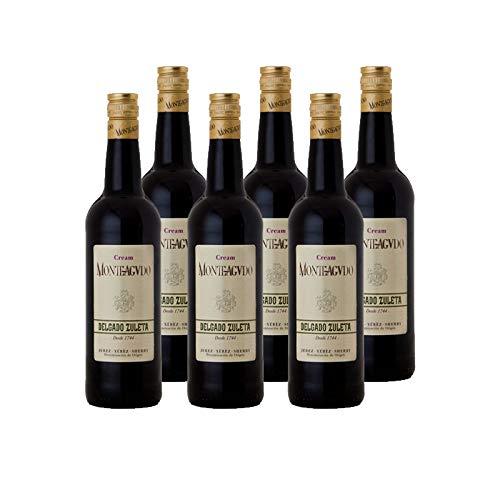 Vino Cream Monteagudo de 75 cl - D.O. Jerez - Bodegas Delgado Zuleta (Pack de 6 botellas)
