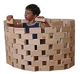 """Baukid Holzbauklötze """"GRUNDAUSSTATTUNG"""", 100 unbehandelte Bauklötze für Kindergarten und Schulkinder, große Klötze aus unbehandeltem Holz aus nachhaltiger Forstwirtschaft, fördert die Kreativität Ihres Kindes"""
