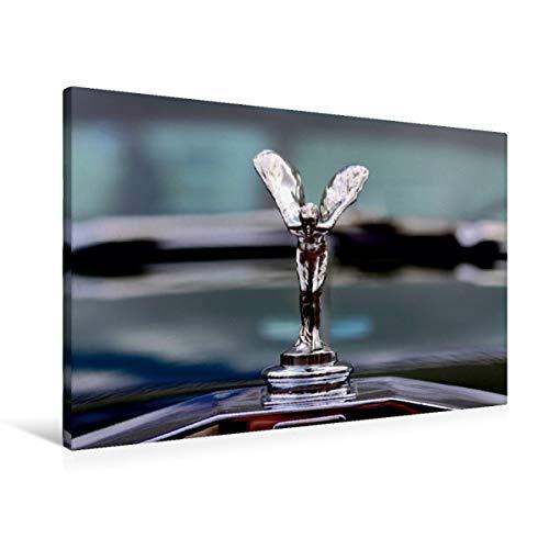 CALVENDO Premium Textil-Leinwand 90 cm x 60 cm quer, Rolls Royce | Wandbild, Bild auf Keilrahmen, Fertigbild auf echter Leinwand, Leinwanddruck: Die berühmte Spirit of Ecstasy Mobilitaet Mobilitaet