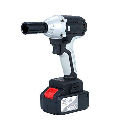Kecheer Llave de impacto a bateria brushless,Atornillador de impacto electrico,Taladro atornillador batería...