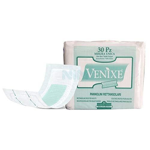 Venixe pannoloni rettangolari con barriera per incontinenza - 4 cf di 30pz/cad, 120 pannoloni